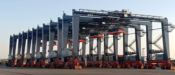 West Port Said container terminal supports equipme